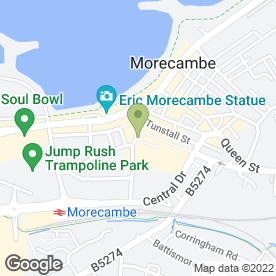 Map of Barclays Bank plc in Morecambe, lancashire