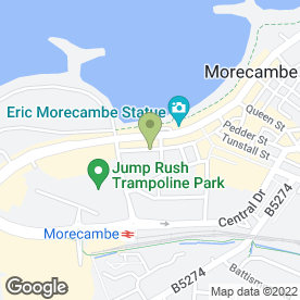 Map of JWK Solicitors in Morecambe, lancashire