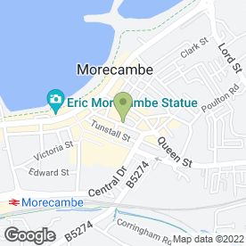 Map of Strawberry Kitchens Ltd in Morecambe, lancashire