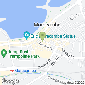Map of The Grove Restaurant & Cafe Bar in Morecambe, lancashire