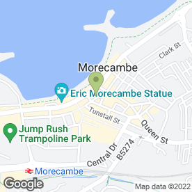Map of McThai in Morecambe, lancashire