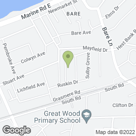 Map of Garry Winder Building Services in Morecambe, lancashire