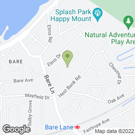 Map of Posh Paws in Bare, Morecambe, lancashire