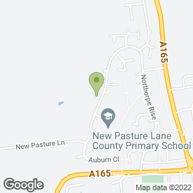 Map of New Pasture Lane School Day Nursery in Bridlington, north humberside