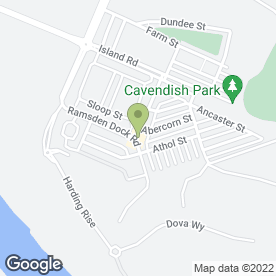 Map of Ramsden Dock Rd Sub Post Office in Barrow-In-Furness, cumbria