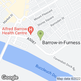Map of M W FLOORING in Barrow-In-Furness, cumbria