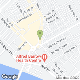 Map of Burrows in Barrow-In-Furness, cumbria