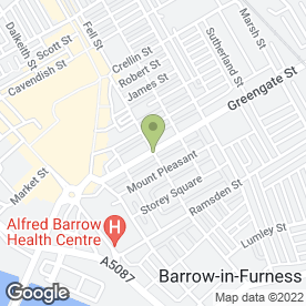 Map of Mind-in-Furness in Barrow-In-Furness, cumbria