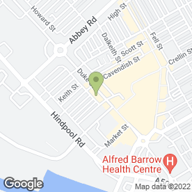 Map of Brown Barron in Barrow-In-Furness, cumbria