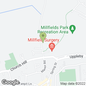 Map of Millfield Surgery in Easingwold, York, north yorkshire