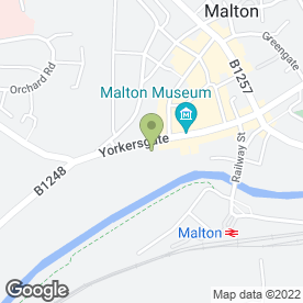 Map of The Talbot Hotel in Malton, north yorkshire