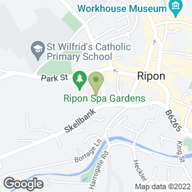 Map of David Ormerod Hearing Centres in Ripon, north yorkshire