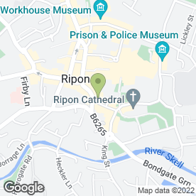Map of Prima Pizzeria in Ripon, north yorkshire