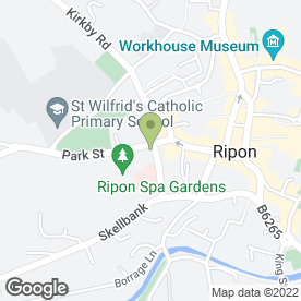 Map of Drs Burton, McEvoy & Webb in Ripon, north yorkshire