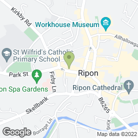 Map of Eccles Heddon in Ripon, north yorkshire
