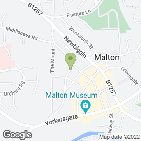 Map of Matthew Maw Removals & Storage Ltd in Malton, north yorkshire