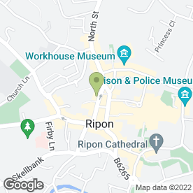 Map of Specsavers Hearing Centres in Ripon, north yorkshire