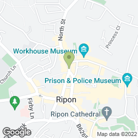 Map of Hong Kong Restaurant in Ripon, north yorkshire
