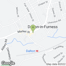 Map of B Greaves in Dalton-In-Furness, cumbria
