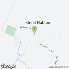 Map of HAINSWORTH PLANT HIRE in Great Habton, Malton, north yorkshire