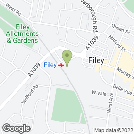 Map of Filey Vehicle Testing Station in Filey, north yorkshire