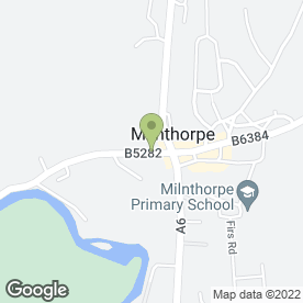 Map of Milnthorpe P.O in Milnthorpe, cumbria