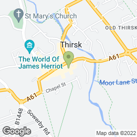 Map of Hawkesworth Appliance Testing in Thirsk, north yorkshire
