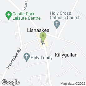 Map of Cocoon Health & Beauty Studio in Lisnaskea, Enniskillen, county fermanagh