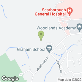 Map of Graham School in Scarborough, north yorkshire