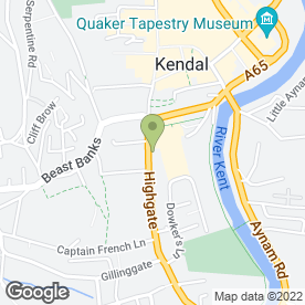 Map of Iceland Foods Ltd in Kendal, cumbria