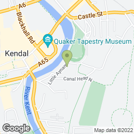 Map of Stramongate Press in Kendal, cumbria