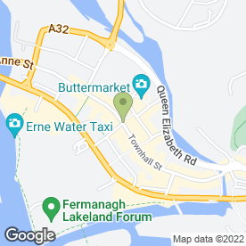 Map of Ruby's Coffee & Sandwich Bar in Enniskillen, county fermanagh