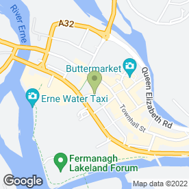 Map of Erne Travel Agency in Enniskillen, county fermanagh
