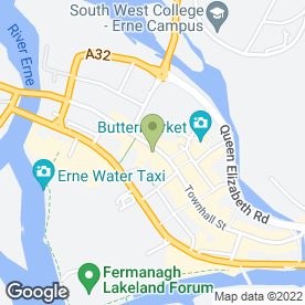 Map of Benetton in Enniskillen, county fermanagh