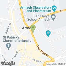 Map of Southern Education & Library Board in Armagh, county armagh