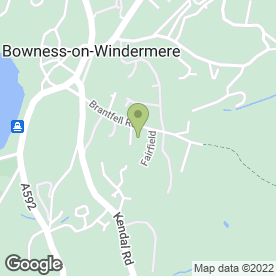 Map of Space Property Solutions Ltd in Bowness-on-Windermere, Windermere, cumbria