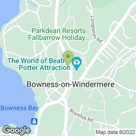 Map of The Olde John Peel Inn in Bowness-on-Windermere, Windermere, cumbria