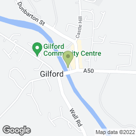 Map of Linen House Tea Rooms in Gilford, Craigavon, county armagh