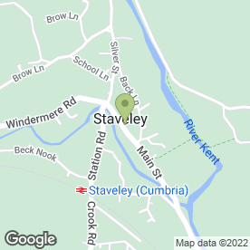 Map of Hanley & Co in Staveley, Kendal, cumbria