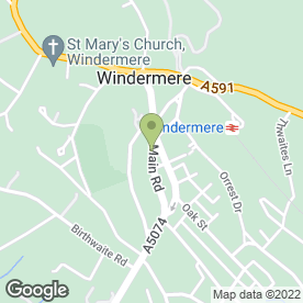 Map of Drystone Inns Ltd in Windermere, cumbria