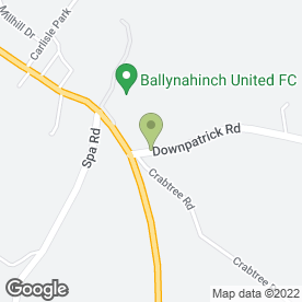 Map of Ruth Strain in Ballynahinch, county down