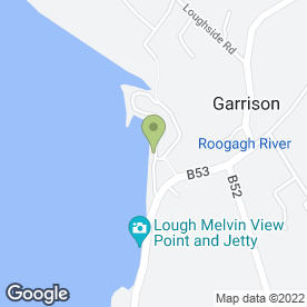 Map of Riverside Bar in Garrison, Enniskillen, county fermanagh