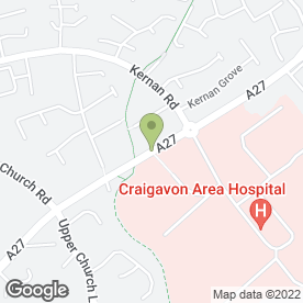 Map of GP Out-of-Hours Southern Health & Social Care Trust in Portadown, Craigavon, county armagh