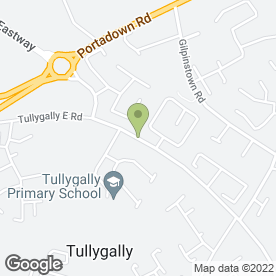 Map of Tullygally Primary School in Tullygally, Craigavon, county armagh