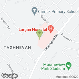 Map of Lurgan Hospital in Lurgan, Craigavon, county armagh