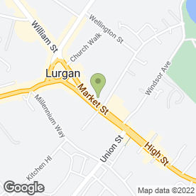 Map of Ulster Bank Ltd in Lurgan, Craigavon, county armagh