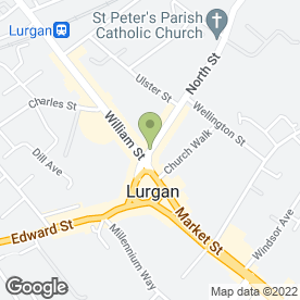 Map of The North Star in Lurgan, Craigavon, county armagh