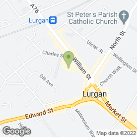Map of JAYNE'S HAIR STUDIO in Lurgan, Craigavon, county armagh