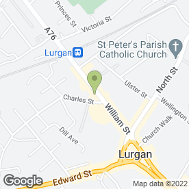 Map of RADIANT BEAUTY SALON in Lurgan, Craigavon, county armagh
