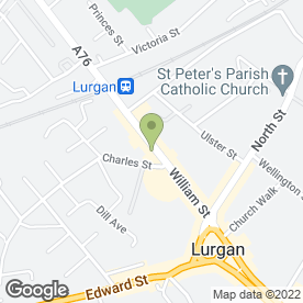 Map of S Heaney & Sons in Lurgan, Craigavon, county armagh